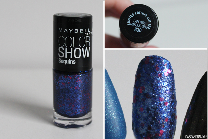 MAYBELLINE // Color Show Nail Polishes - Sapphire Masquerade - cassandramyee