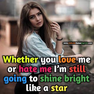 Stylish Status Girl Attitude English
