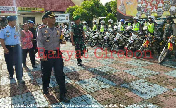 polres majalengka turunkan pasukan keamanan pilkada