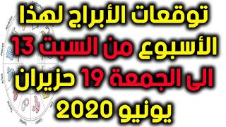 توقعات الأبراج لهذا الأسبوع من السبت 13 الى الجمعة 19 حزيران يونيو 2020