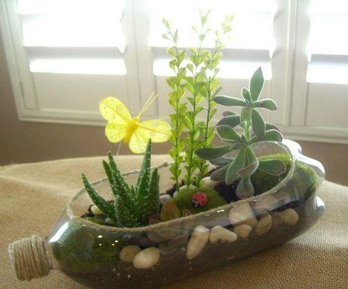 botellas, plastico, manualidades, plantas, jardineras, semilleros, reciclar