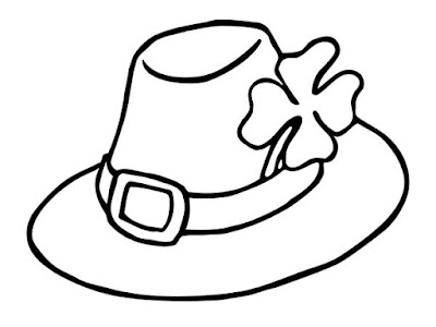 St. Patrick's day 2018 Hat Coloring Pages