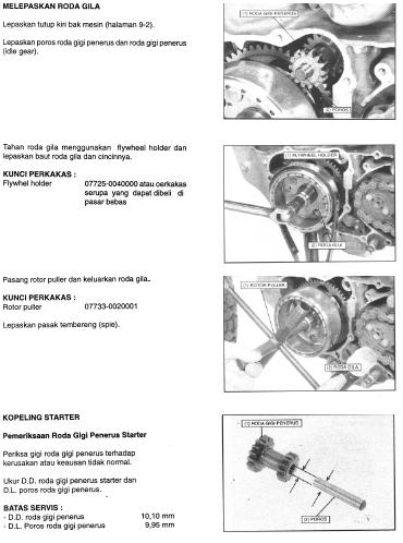 Cara Melepas Roda Gila atau Flywheel Tiger 2000, Tiger Revo