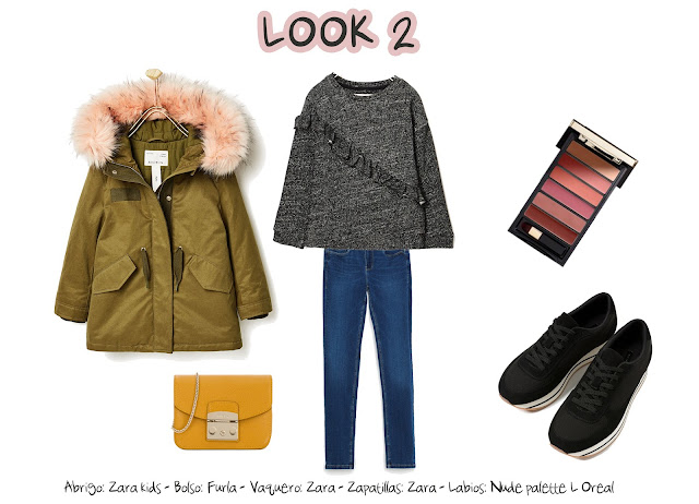 photo-Abrigo: Zara kids - Bolso: Furla - Vaquero: Zara - Zapatillas: Zara - Labios: Nude palette L'Oreal