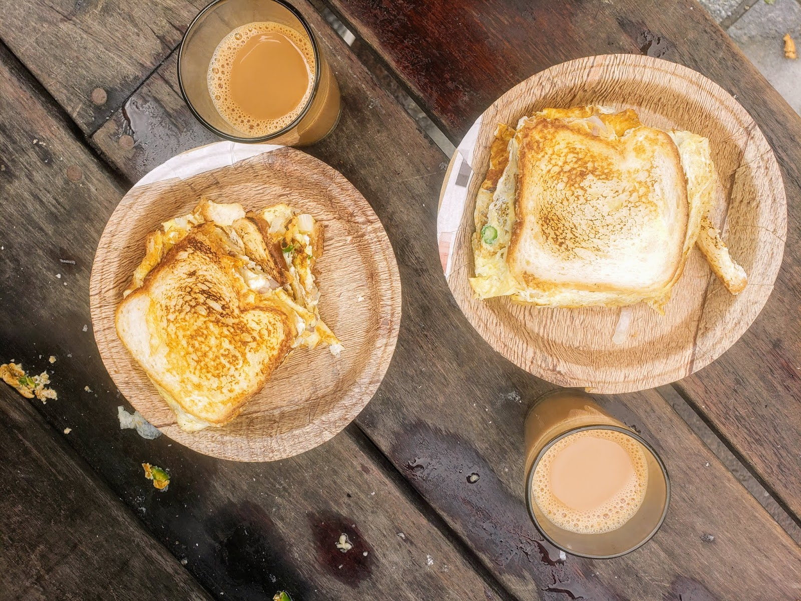 Best Breakfast - Chai, and Bread Omelet