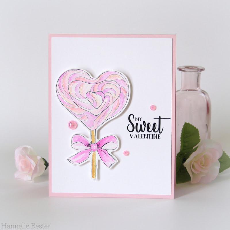 Alex Syberia - Heart lollipop digital stamp