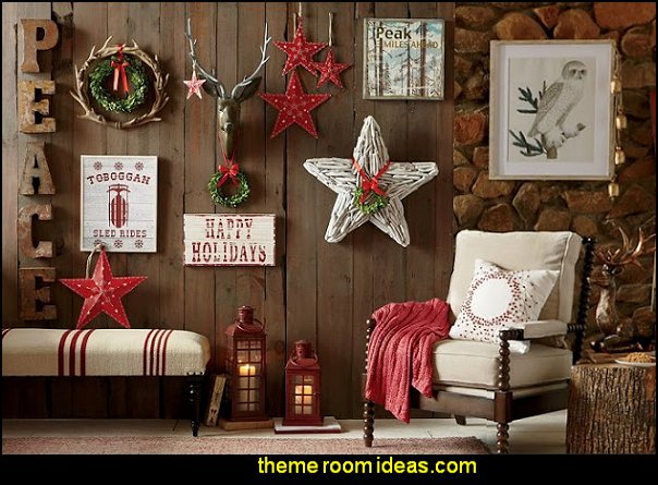 christmas rustic decor cabin decor christmas decorating rustic style