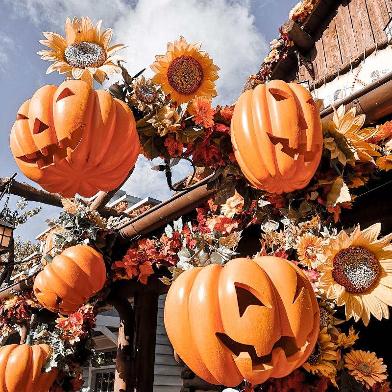 Citrouilles d'Halloween à Frontierland