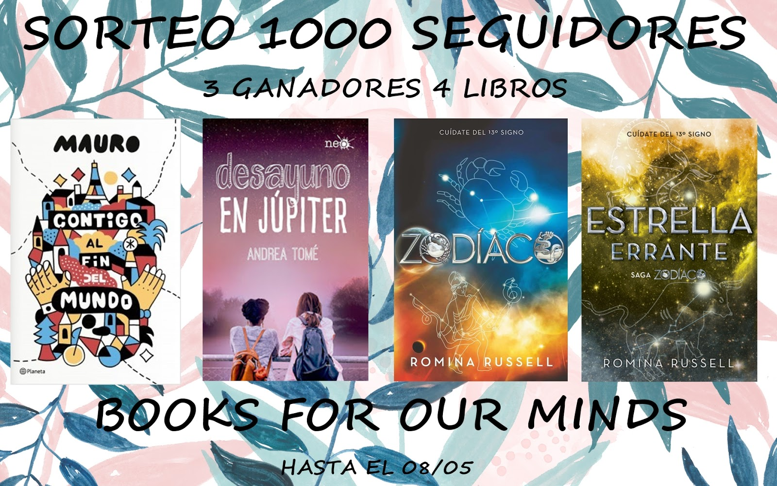 Sorteo del blog Books For Our Minds