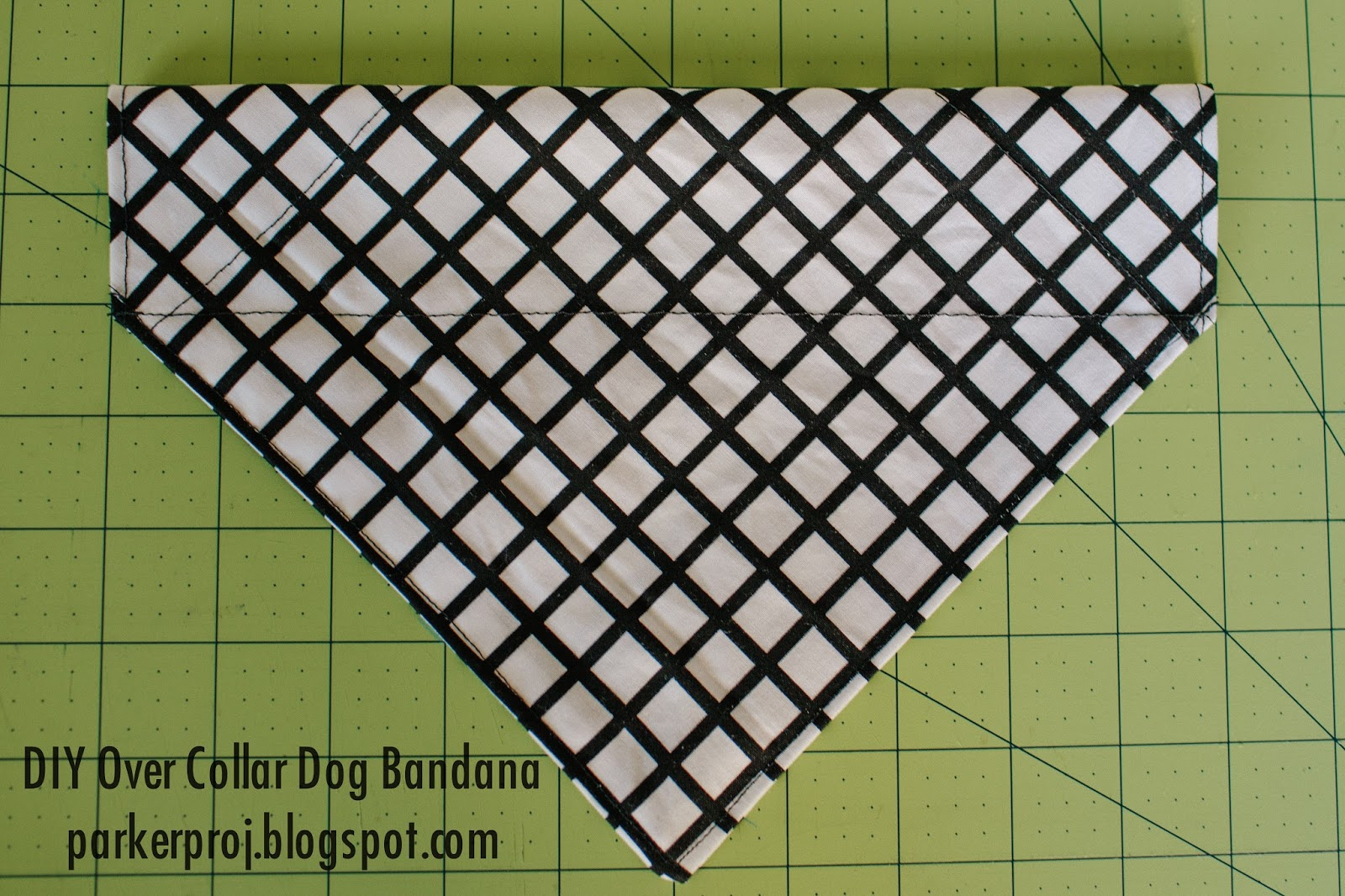 dog bandana template - the parker project over the collar dog bandana tutorial