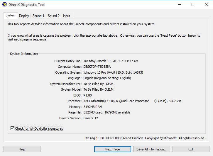 Cara cek DirectX