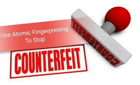 Use atomic fingerprinting to stop counterfeiting