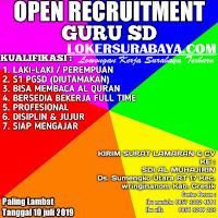Open Recruitment Terbaru di SD Islam Al Muhajirin Gresik Juli 2019