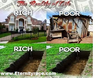 The grave yard of the rich and the poor