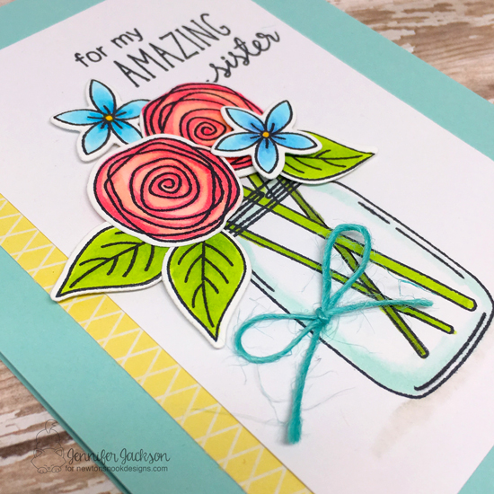 Amazing Sister Card by Jennifer Jackson | Lovely Blooms Stamp Set by Newton's Nook Designs #newtonsnook #handmade