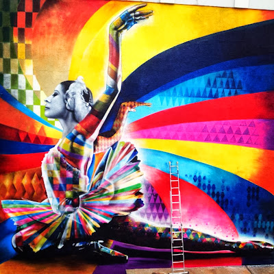 """The Dancer"" By Eduardo Kobra, a Street Art tribute to Maya Plisetskaya, one of the leading names in Russian ballet. 3"