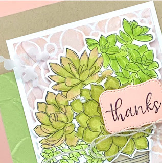 Stampin' Up! Simply Succulents Thank You Card ~ January-June 2021 Mini Catalog ~ www.juliedavison.com #stampinup