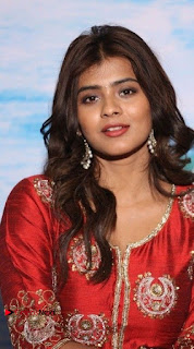 Actress Heba Patel Latest Stills in Red Dress at Mister Movie Trailer Launch Event  0002.jpg