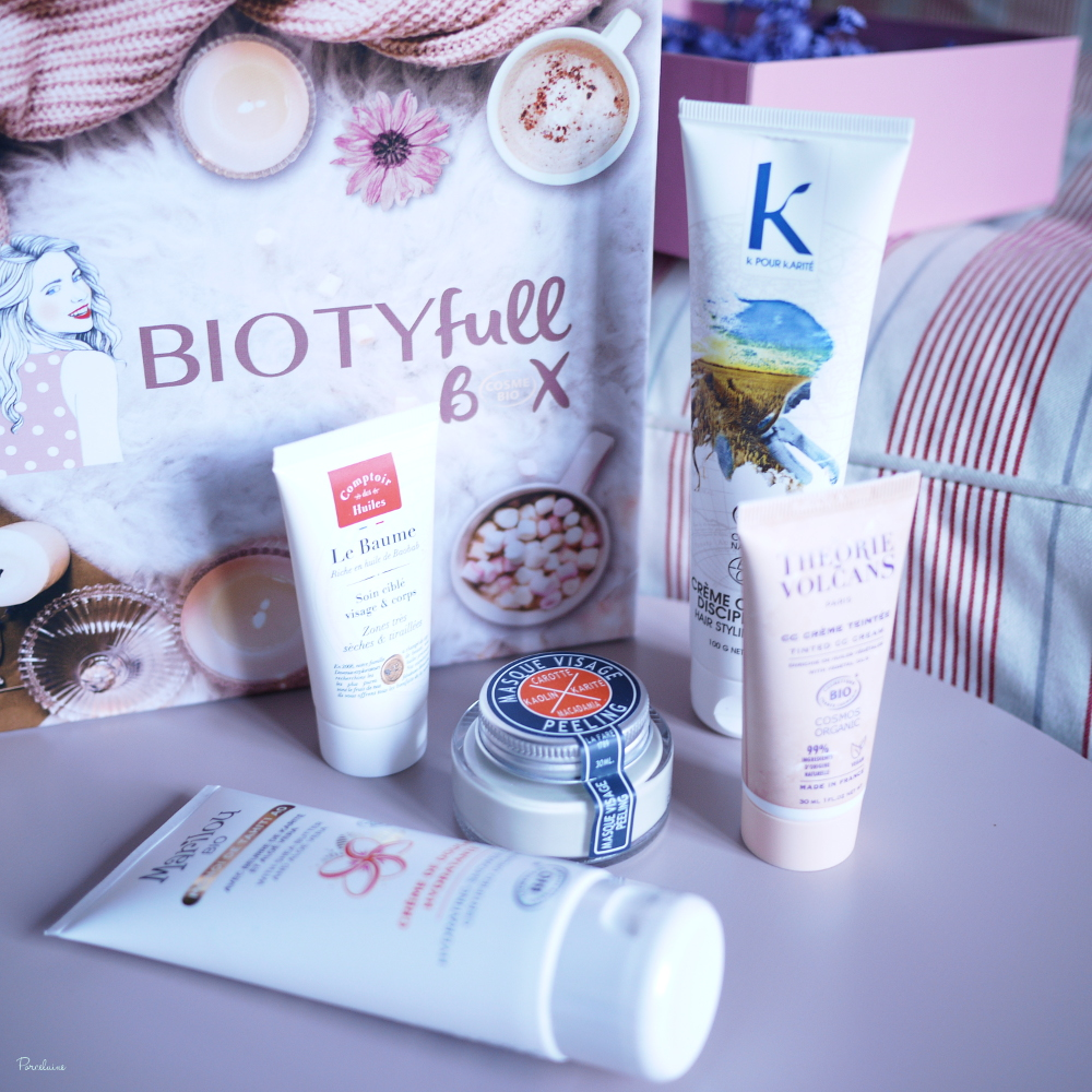 Biotyfull Box - Novembre 2019 : Cocooning et 100% Cosmebio