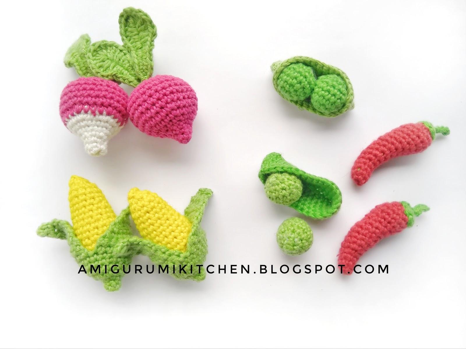Amigurumi Vegetables : Little vegetables amigurumi kitchen