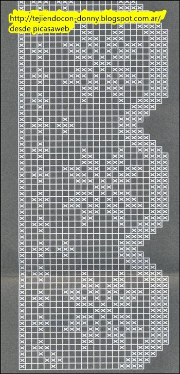Patrones ganchillo crochet graficos tricot dos agujas - Puntillas para cortinas ...