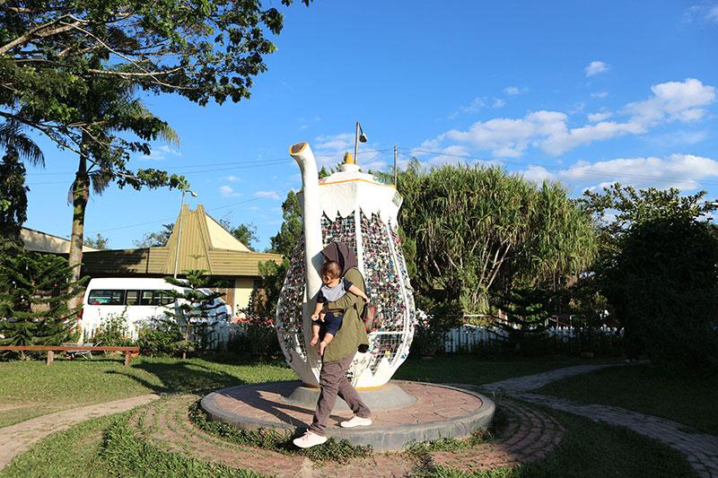 teko di Sabah tea garden