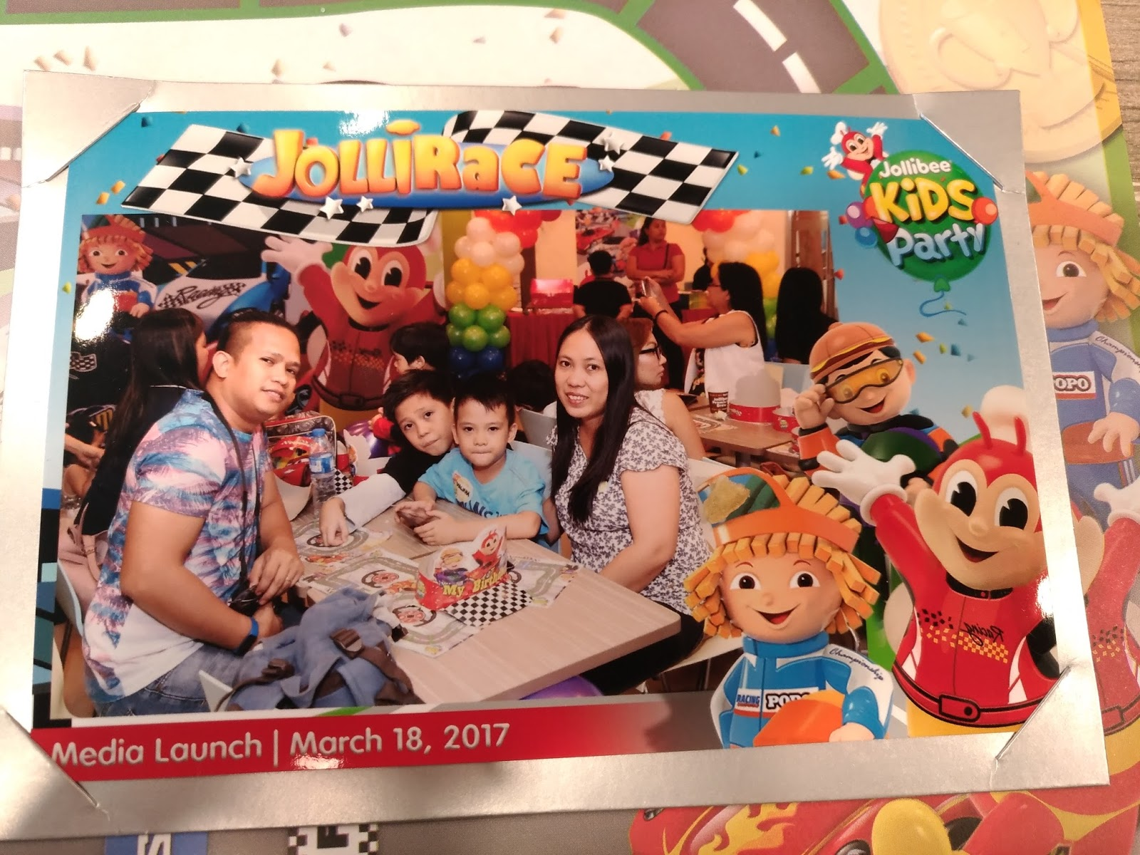 Rev It Up With The Newest Theme Party The JolliRace Party Theme - Birthday invitation jollibee
