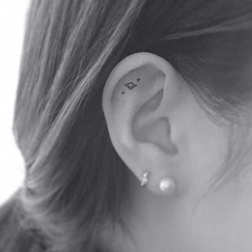 kulak içi dövme tumblr tattoo in ear