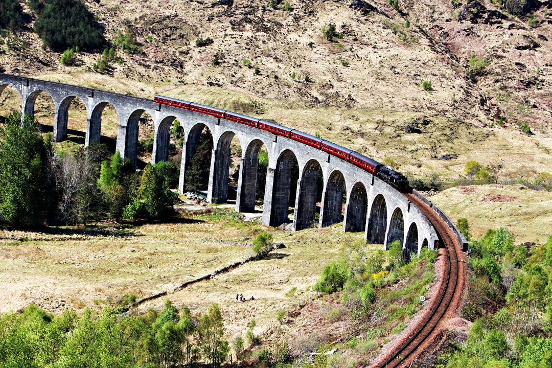 Jacobite Steam Train across the Glenfinnan Viaduct