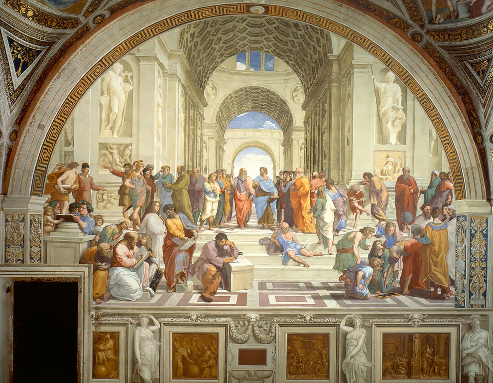 Best Italian fresco: The School of Athens by Raphael Sanzio