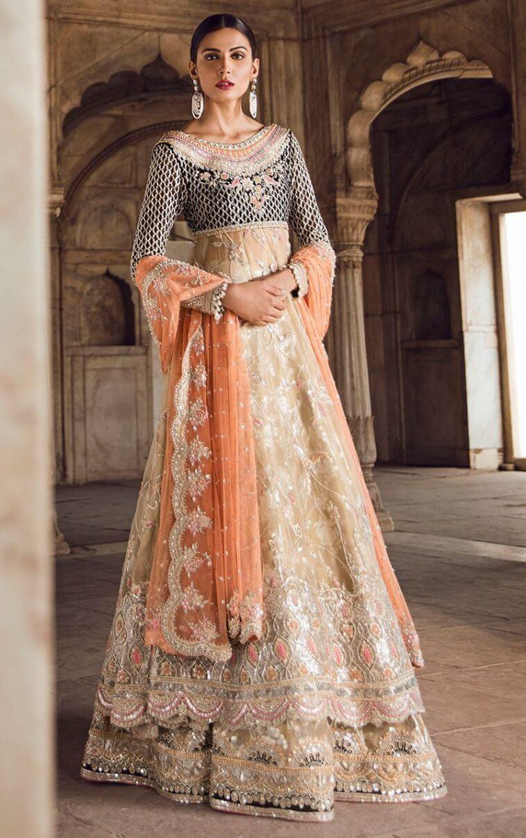Traditional Pakistani Bridal Barat Dress by Tena Durrani