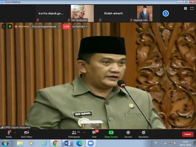 Pendapat Pjs Walikota Terhadap Raperda Inisiatif DPRD Depok
