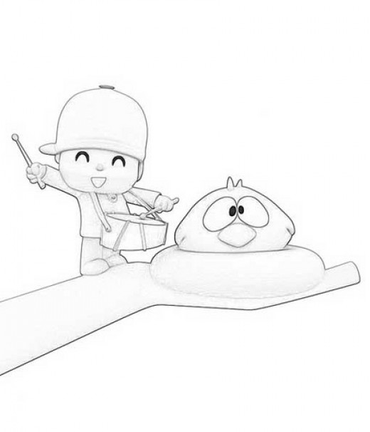 fun coloring pages pocoyo coloring pages