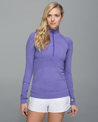 lululemon-half-zip-swiftly iris flower