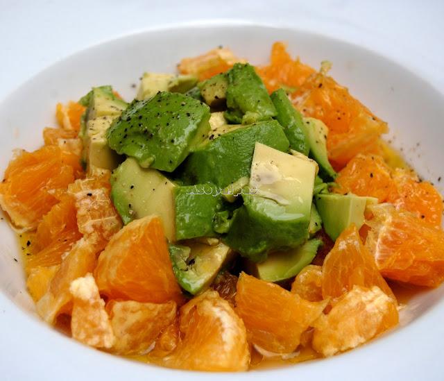 Ensalada de Aguacate y Naranja