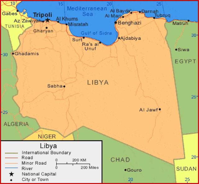 Gambar Peta Libya