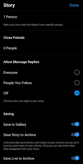 Disable messages reply
