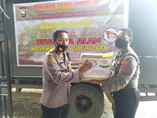Peduli Korban Bencana Alam, Polres Tana Toraja Kirim Bantuan Sosial Kemanusiaan Ke Masamba.
