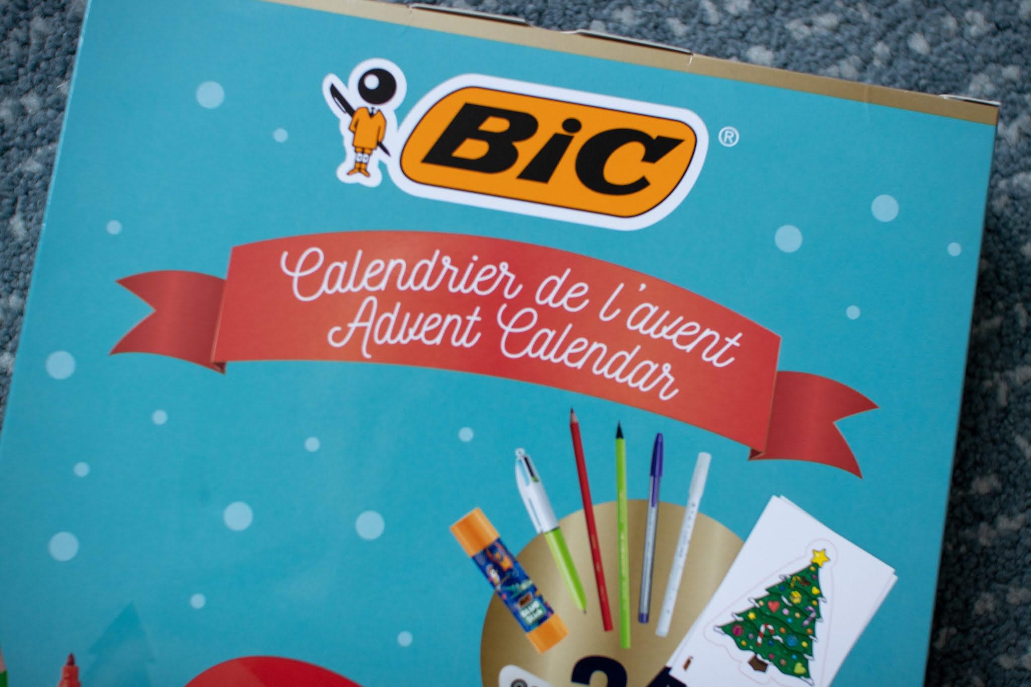 BIC Advent calendar close up for review