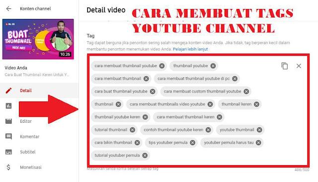 Tutorial Membuat Tags Youtube Cahnnel Auto Dapat Rangking Youtube Indonesia