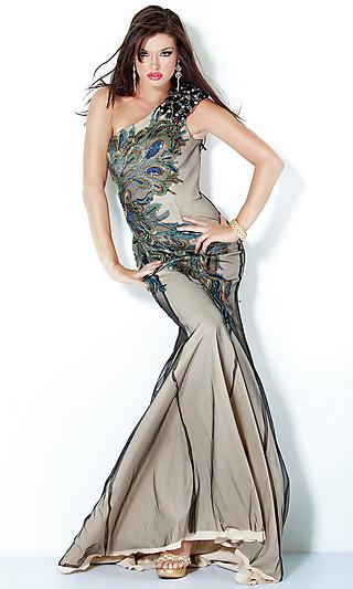Peacock Feather Wedding Dresses Designs | Dressespic 2013