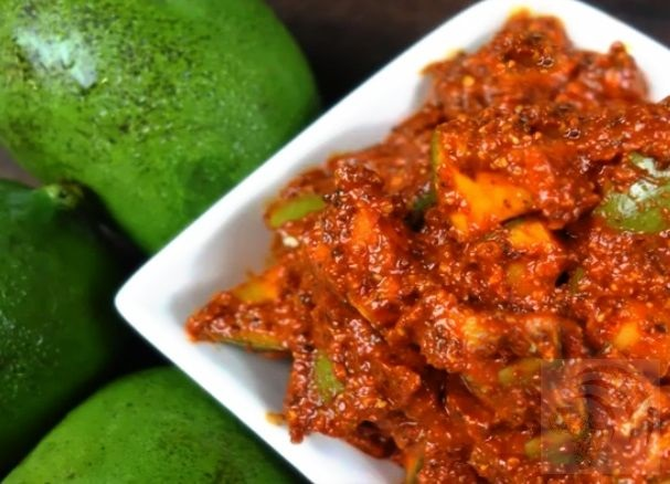 African Indian Green Mango Pickle Recipe