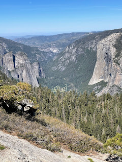 Taft point and El Capitan from Sentinel Dome