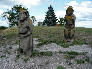 Ізюм. Гора Кременець (Крем'янець). Кам'яні половецькі скульптури