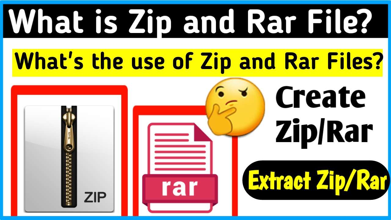 What is Zip,Rar File? Create and Extract Zip,Rar File Pc/Mobile