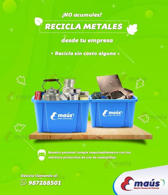 No acumules, recicla metales