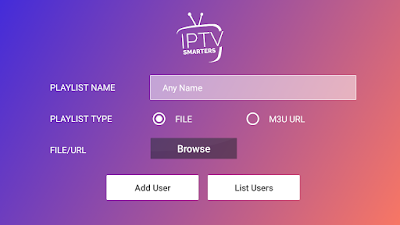 m3u file free for IPTV Smarters Pro
