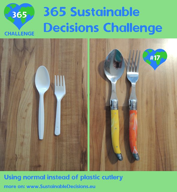 Using normal instead of plastic cutlery redcing plastic waste reducing waste