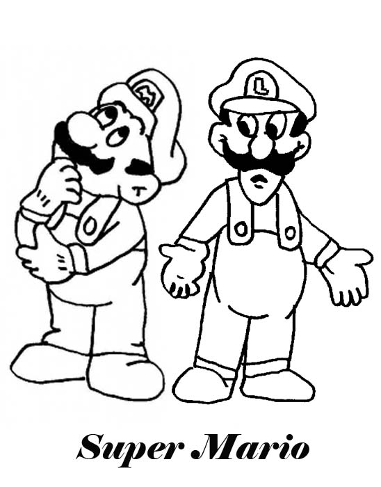 Games Coloring Pages : Super Mario
