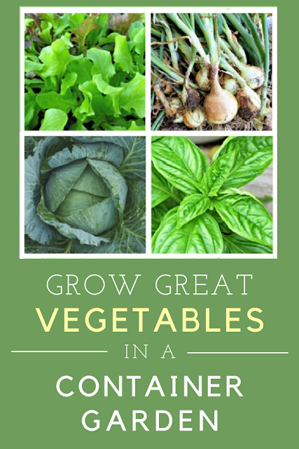 How to grow vegetables in a container garden.